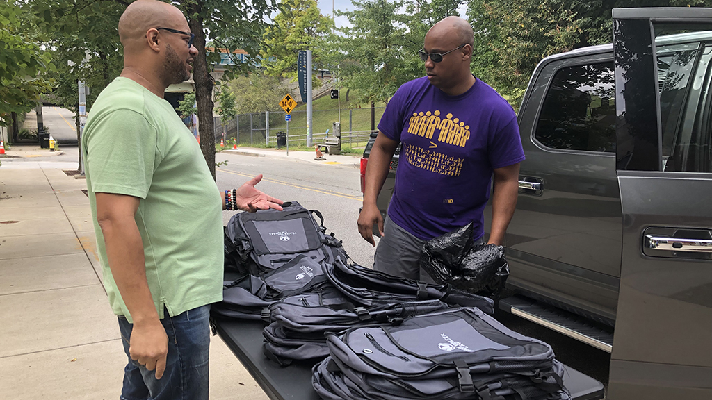 Local Law Firm Holds Backpack Drive In Homewood